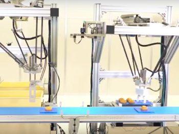ロボット自動化事例:洋菓子ピッキングロボットシステム