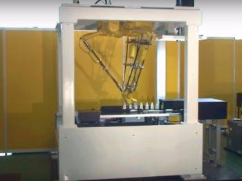 ロボット自動化事例:容器整列用ロボットシステム
