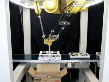 ロボット自動化事例:箱詰めロボットシステム